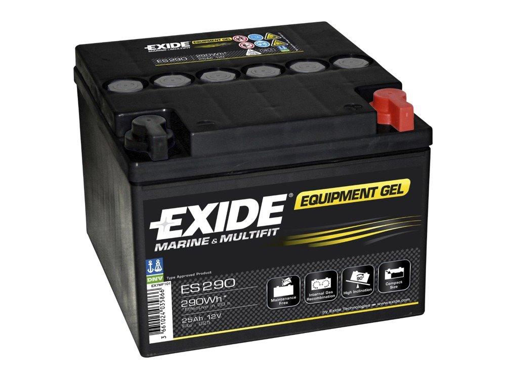 battery 12v 25ah exide equipment gel es290 special. Black Bedroom Furniture Sets. Home Design Ideas