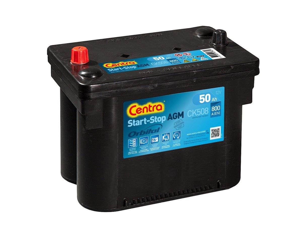 Battery 12V  58Ah EXIDE START-STOP AGM EK508