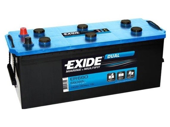 Battery 12V 142Ah EXIDE DUAL ER650
