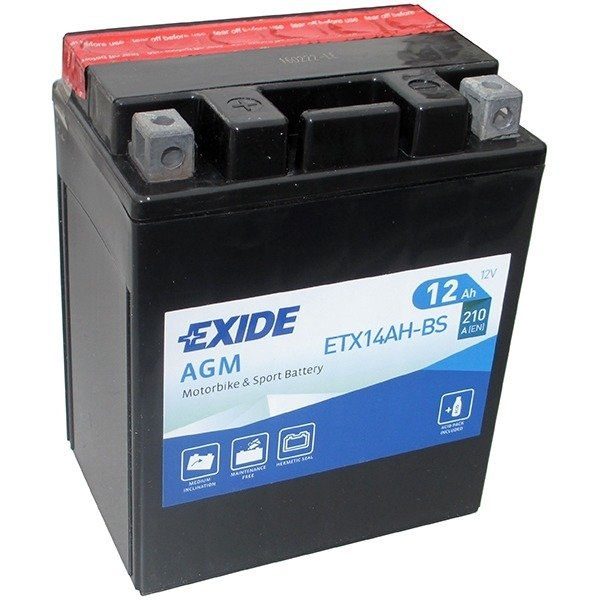 Battery 12V  12Ah YTX14AH-BS EXIDE