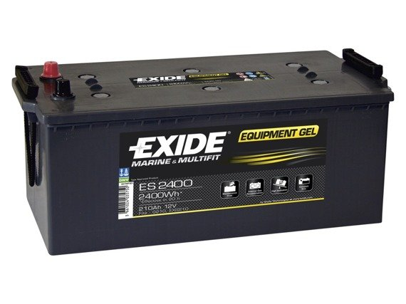 Battery 12V 210Ah EXIDE EQUIPMENT GEL ES2400