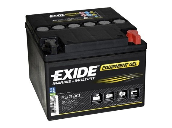Battery 12V  25Ah EXIDE EQUIPMENT GEL ES290