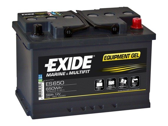 Battery 12V  56Ah EXIDE EQUIPMENT GEL ES650