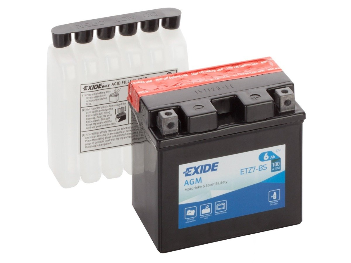 Battery 12V   6Ah YTZ7-BS EXIDE