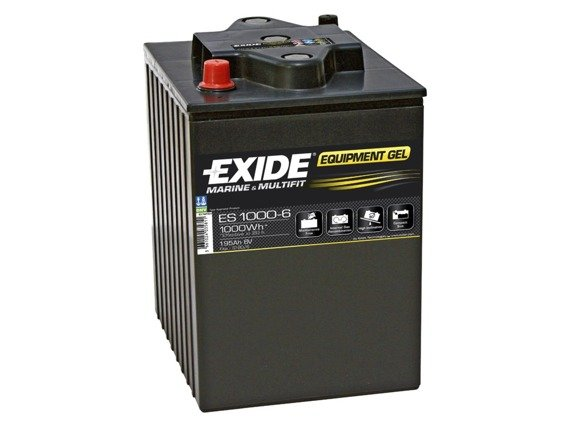 Battery 6V 195Ah EXIDE EQUIPMEN.GEL ES1000-6